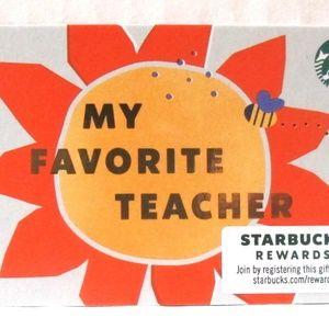 Starbucks 2020 My Favorite Teacher Card NO VALUE